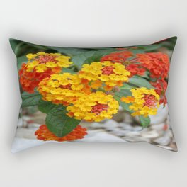 Macro Of Shrub Verbenas or Lantanas (Lantana Camara)  Rectangular Pillow