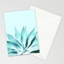 Aqua Solar Agave Stationery Cards