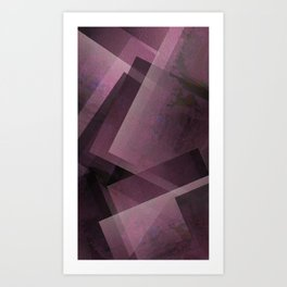 Posh Pink - Digital Geometric Texture Art Print