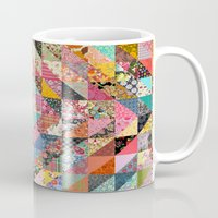fabric Mugs featuring Grandma's Quilt by Rachel Caldwell