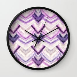 PARADISE PATTERN ULTRA VIOLET Wall Clock