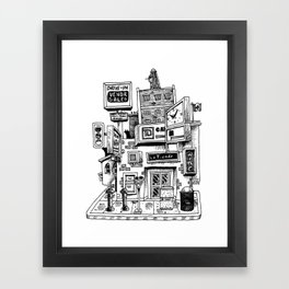 Downtown Brandon Manitoba Framed Art Print
