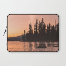 Forest Island at the Lake - Nature Photography Laptop Sleeve