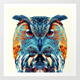 Owl - Colorful Animals Art Print