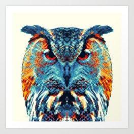 Owl - Colorful Animals Art Print