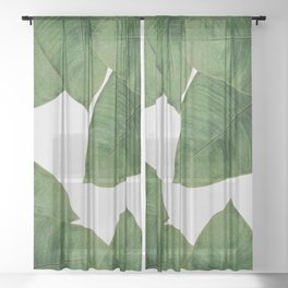 Banana Leaf I Sheer Curtain