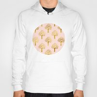 gold foil Hoodies featuring Pink Gold Foil 02 by Aloke Design