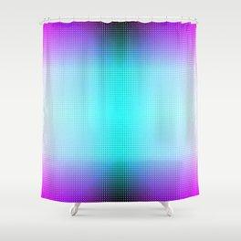 Purple Blue Black Ombre Hexagons Bi-lobe Contact binary Shower Curtain