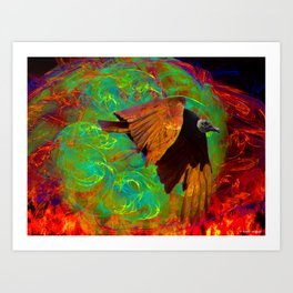 Escape From Hell Art Print