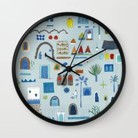 morocco Wall Clocks featuring Morocco Sketch by Nic Squirrell