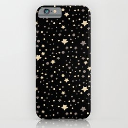 Cute hand-drawn and pastel coloured stars and dots iPhone Case
