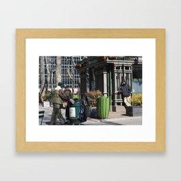 Cleaning Bryant Park Framed Art Print