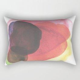 Rainbow Watercolor Immersion Rectangular Pillow