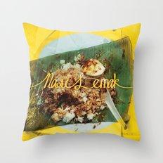 Fatty Rice Throw Pillow