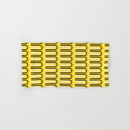 Geometric Pattern 235 (yellow curves) Hand & Bath Towel