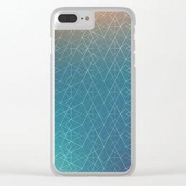 Blurred Geometry Clear iPhone Case