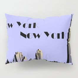 New York New York skyline retro 1930s style Pillow Sham