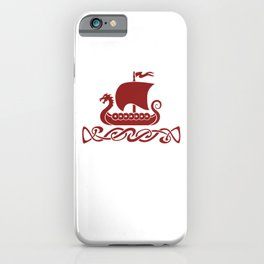 Dragon Boat - Red iPhone Case
