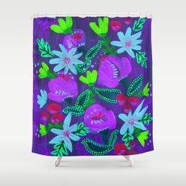 Lavender Magenta Blooms Shower Curtain