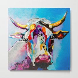 COLORFUL COW Metal Print