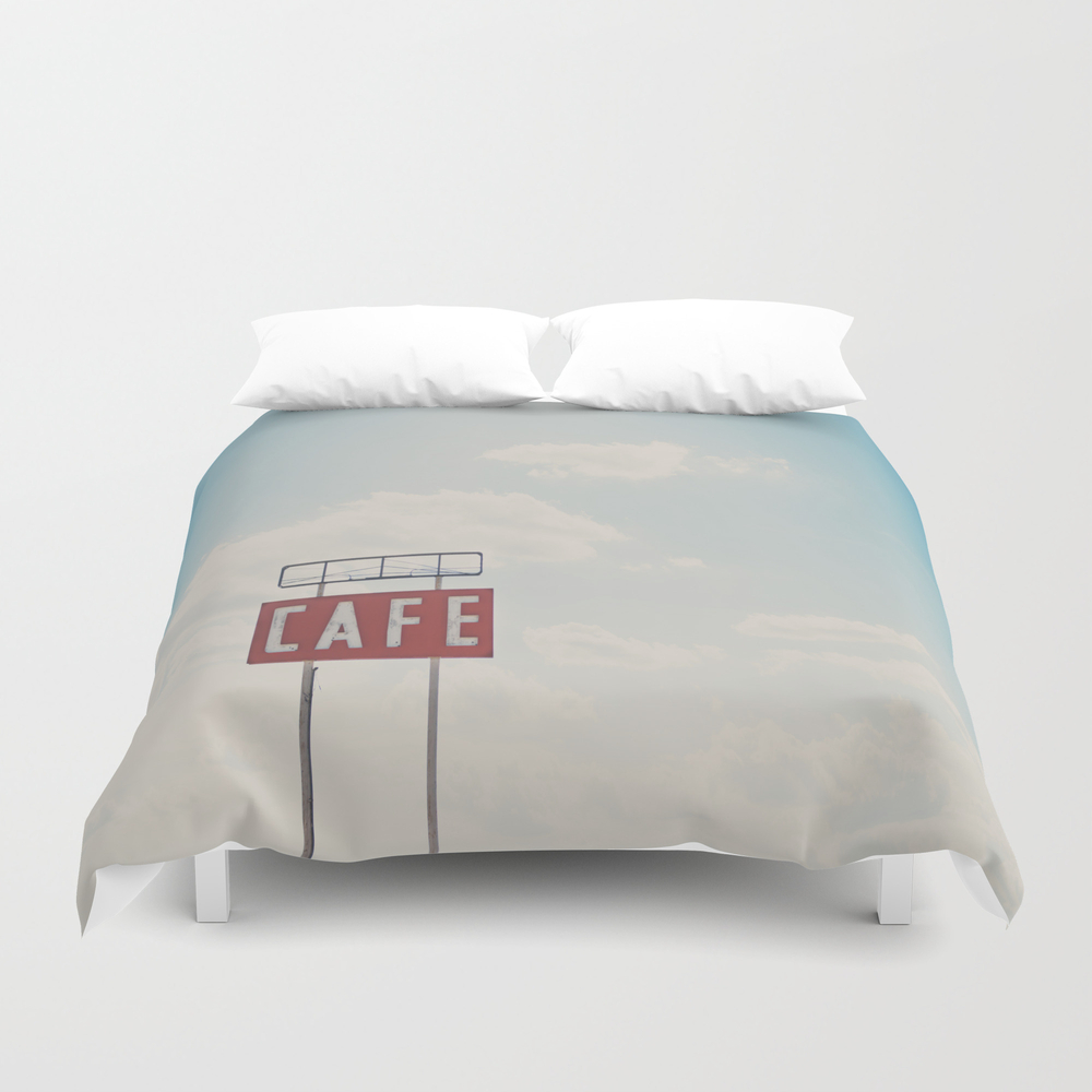 A Cafe Along Route 66 ... Duvet Cover by Oohprettyshiny DUV7540105