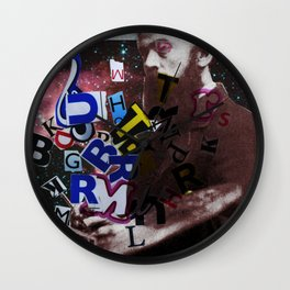 The Painter who´s looking for the right words to discribe his work - 2 Wall Clock