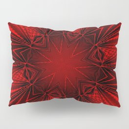 Pleated Red Pillow Sham