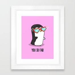 Fabulous Penguin Framed Art Print