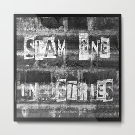 Slam 1 Industries Ransom Note B/W Metal Print