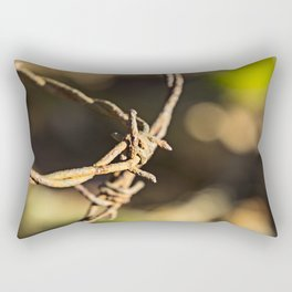 Barb wire Rectangular Pillow