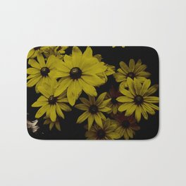 Yellow Daisies Old Antique Look Bath Mat