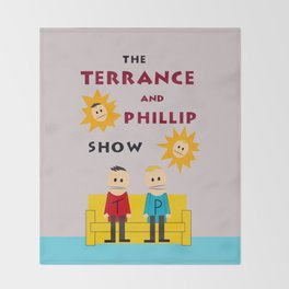 The Terrance and Phillip Show Poster Throw Blanket