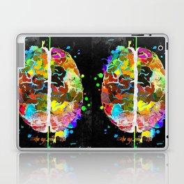 Human Brain Black Laptop & iPad Skin