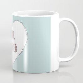 Girl power heart illustration - Girl Gang Prints Coffee Mug