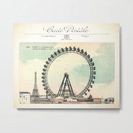 Paris Postcard #1 by Murray Bolesta Metal Print