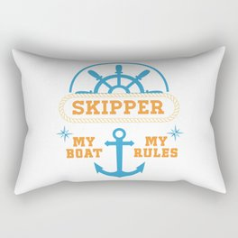 My Boat My Rules Rectangular Pillow