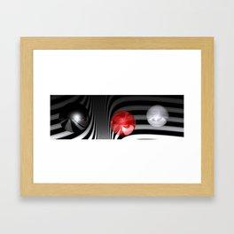 stripes and balls -3- Framed Art Print