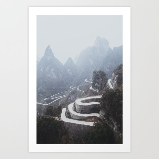 Tianmen Mountain II Art Print