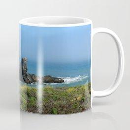 Rocks In The Sea At Pigeon Point Coffee Mug