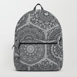pattern in style of colorful floral patchwork Backpack