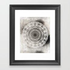 DESERT FLOWER MANDALA Framed Art Print