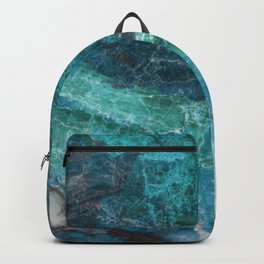 Cerulean Blue Marble Backpack