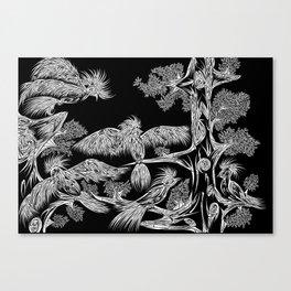 Japanese Birds Inverted Canvas Print
