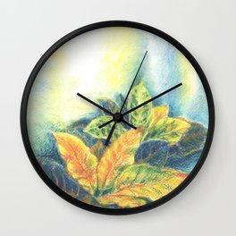 Сolorful Leaves Wall Clock