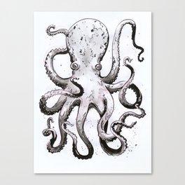 Inky Octopus Canvas Print