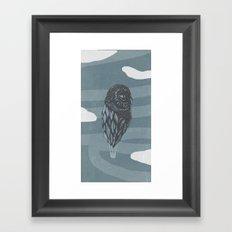 Hot Owl Balloon Framed Art Print