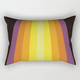 Warm Sunset Retro Stripes Rectangular Pillow