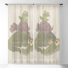 Swamp Squad Sheer Curtain