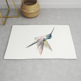 Flying Little Hummingbird Rug