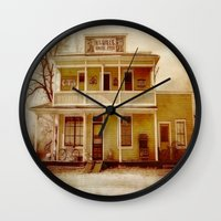 general Wall Clocks featuring General Store by Dorothy Pinder